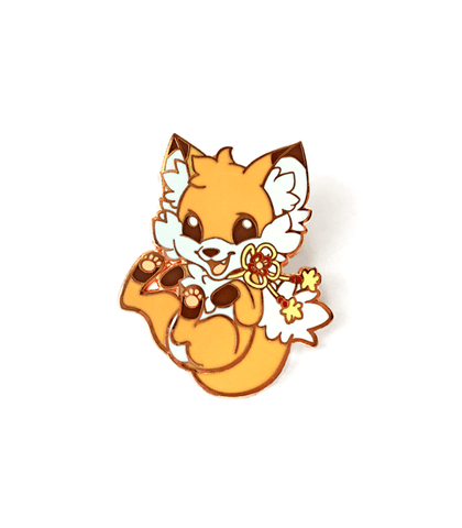 Doki Fox Bouncy Enamel Pin