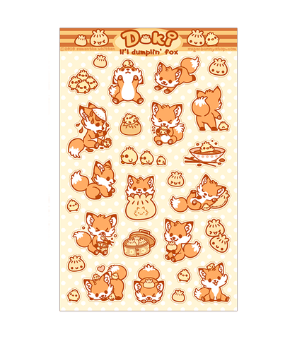 Doki Fox Sticker Sheet