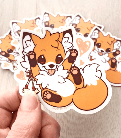 Doki Fox Playful Vinyl Sticker
