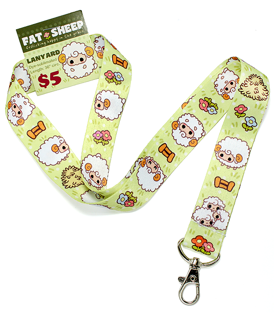 Fat Sheep lanyard