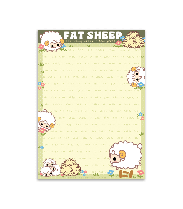 Fat Sheep memo pad