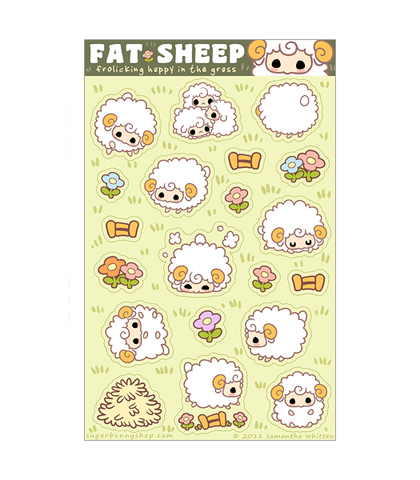 Fat Sheep Sticker Sheet