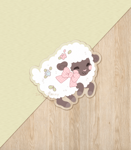 Fuwafuwa Sheep Vinyl Sticker