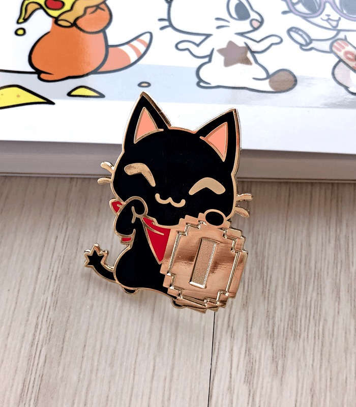 Maneki Gamercat Enamel Pin