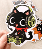 Gamercat vinyl stickers
