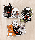 Gamercat and friends vinyl stickers