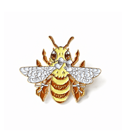 Bee-utiful Honey Bee Enamel Pin