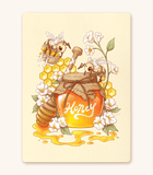 Honey Bees textured print