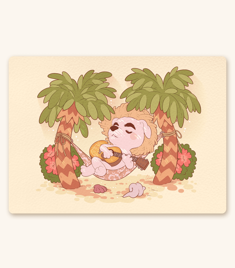 K.K. Slider Island Time Textured Print