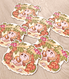 K.K. Slider Island Time Luggage Sticker