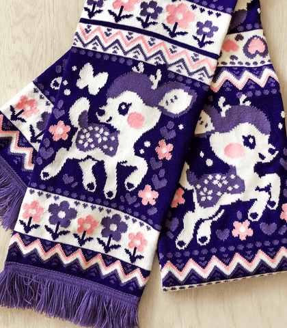 Lavendeer Fawn Knit Scarf