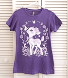 Lavendeer Floral Wreath Ladies Shirt