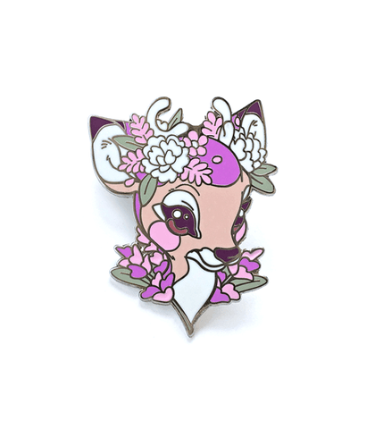 Lavendeer Flower Crown Enamel Pin
