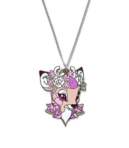 Lavendeer Flower Crown Necklace