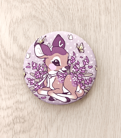 "Lavendeer Soft-Touch Matte 2.25"" Button"