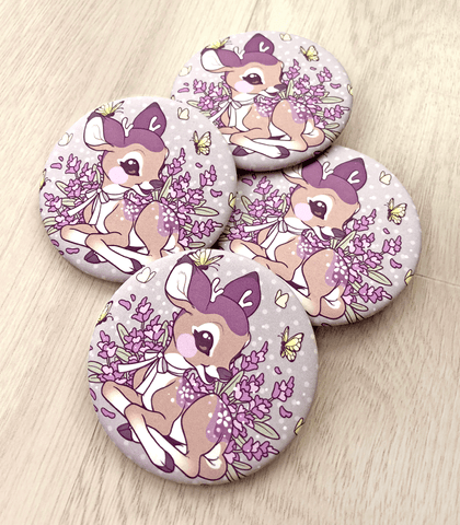 Lavendeer pin back button