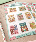 Animal Crossing Letter Postage Stamp Sticker Sheet