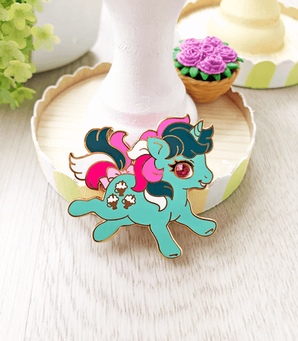 Little Pony Fizzy Unicorn Enamel Pin
