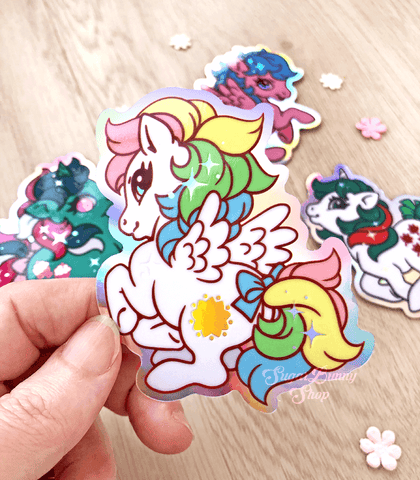 Little Pony Holo Vinyl Stickers