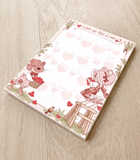 Love on the Line Bunnies Memo Pad