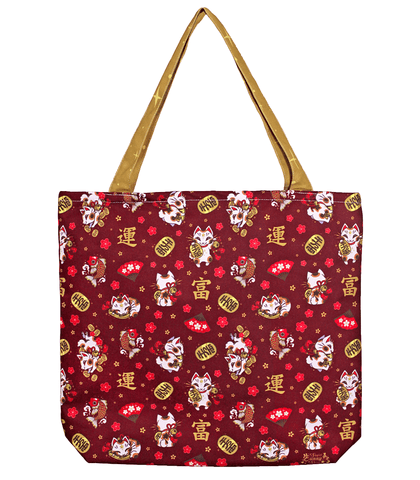 Maneki Neko Canvas Tote Bag