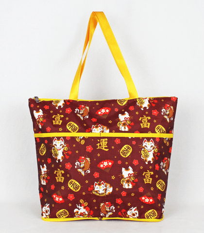 Maneki Neko Folding Tote Bag