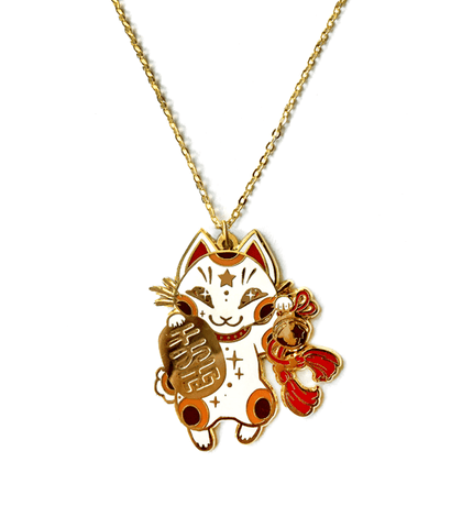 Maneki Neko Necklace