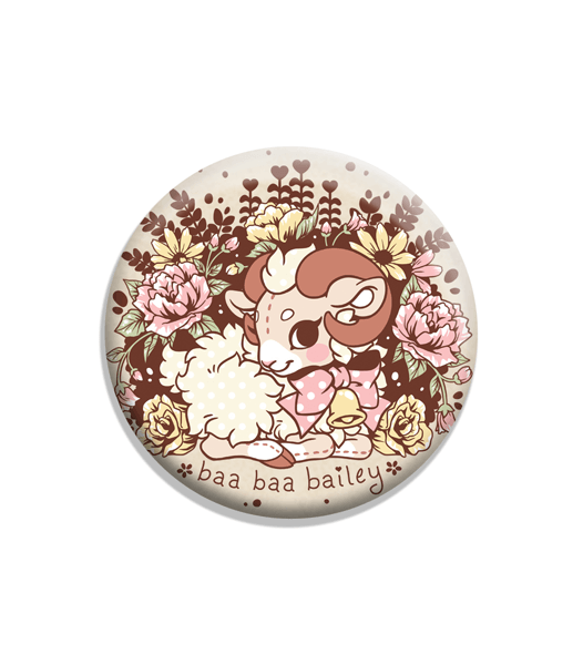 "Baa Baa Bailey Soft-Touch Matte 2.25"" Button"