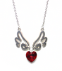 Silvery Wings of Love Necklace