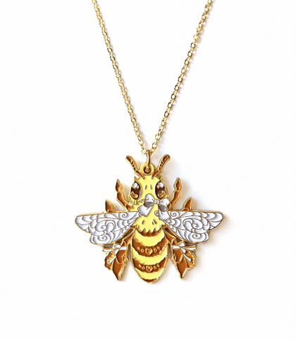 Bee-utiful Honey Bee Necklace