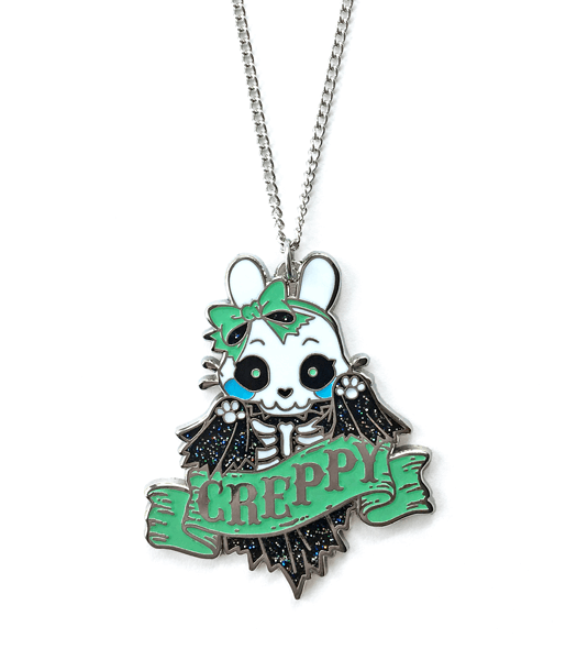 Creppy Skeleton Bunny Necklace