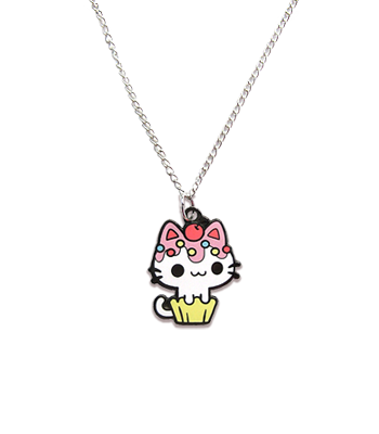 Vanilla Cupcake Kitty Necklace