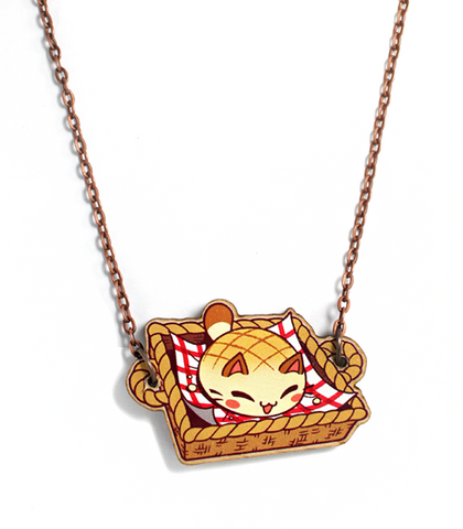 Nyanpan Basket Necklace