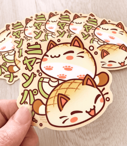 Nyanpan cat vinyl sticker