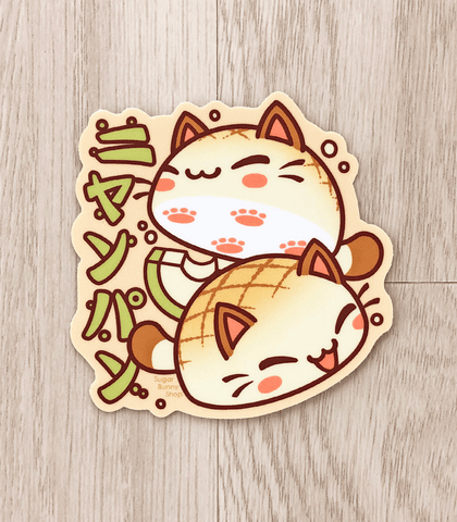 "Nyanpan Cat 3"" Vinyl Sticker"