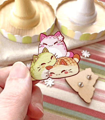 Nyanpan Flavor Stack Wood Pin