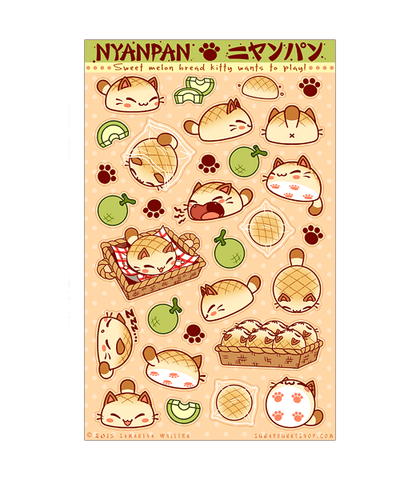 Nyanpan Sticker Sheet