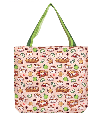 Nyanpan Cat Canvas Tote Bag