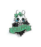 Creppy Skeleton bunny enamel pin