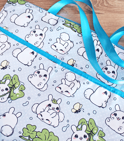 Puddle Bunnies tote bag