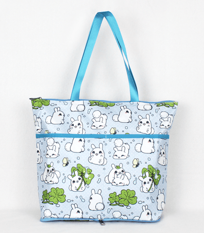 Puddle Bunnies Folding Tote Bag