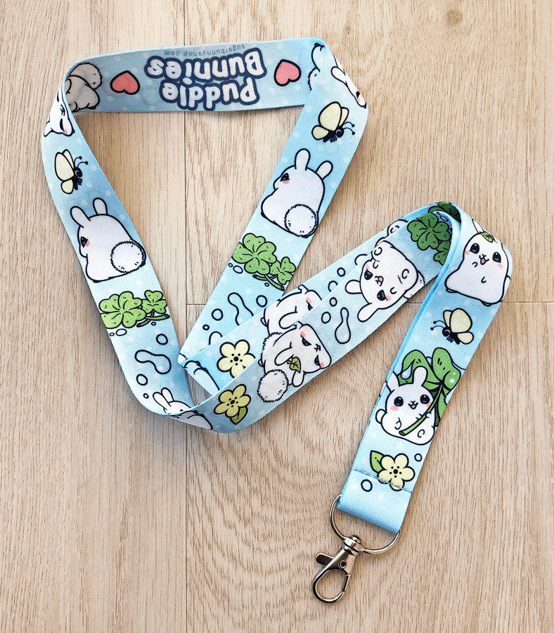 Puddle Bunnies lanyard