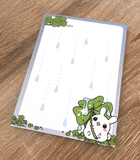 Puddle Bunnies memo pad