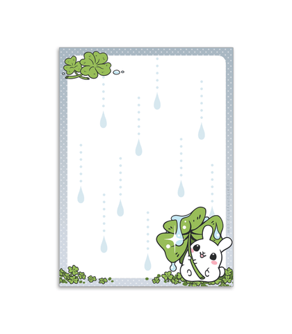 Puddle Bunnies Rain Memo Pad