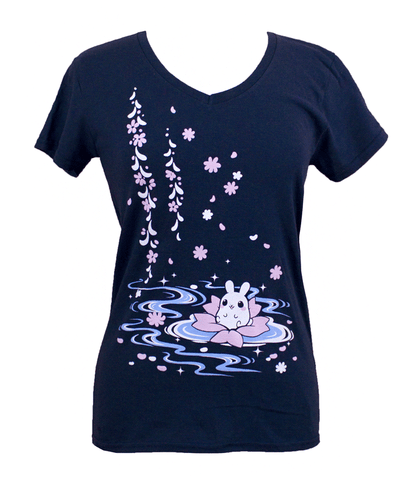 Puddle Bunny Serenity Ladies V-neck Shirt
