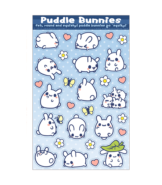 Puddle Bunnies stickers