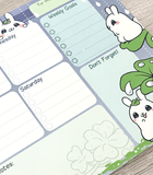 Puddle Bunnies weekly planner