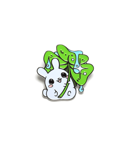 Puddle Bunny Clover Enamel Pin