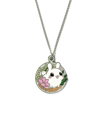 Puddle Bunny Terrarium Necklace