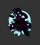 Quoth the Raven enamel pin